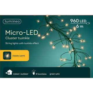 micro LED cluster twinkle GB green/warm white