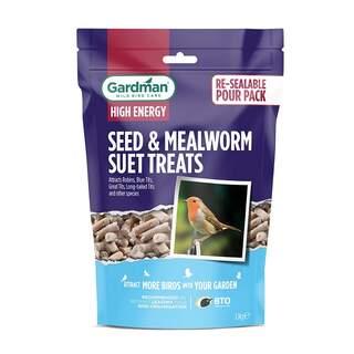 GM Seed & Mealworm Suet Treats