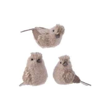 foam bird on clip w flock 3ass brown