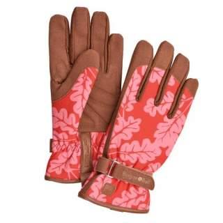 Oak Leaf  Gloves Poppy  M/L