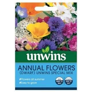 Annual Flowers Dwarf Unwins Special Mix