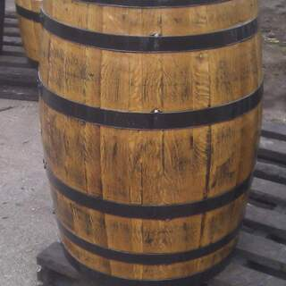 Light Oak 40 Gallon Barrel