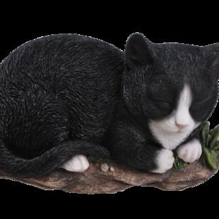 RL Sleeping Cat BLK/WHT B