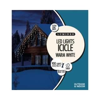 LED XL icicle twink lght ou GB white/warm white