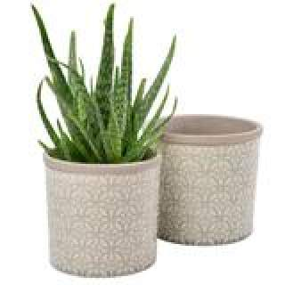 Glazed Pot Tuscany Large Grey