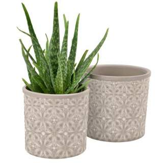 Glazed Pot Porto Large Grey