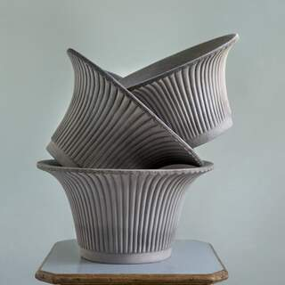 Daisy, Grey, 25 cm, Pot