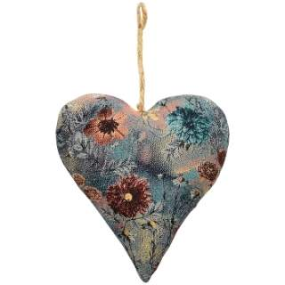 Fabric hanging Heart Blue
