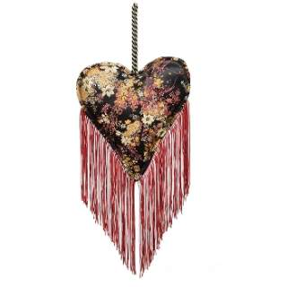 Fabric hanging Heart Red