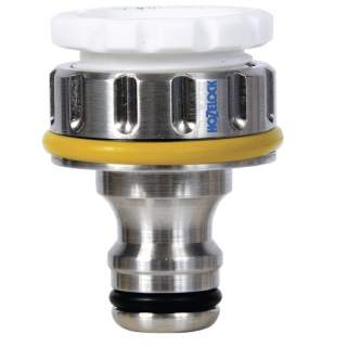 Hozelock 1in BSP Pro Metal Threaded Tap Connector