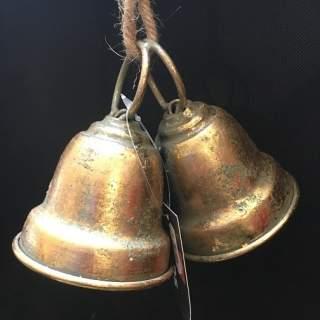 Bell Hanging Mtl 18x8x11 Gold