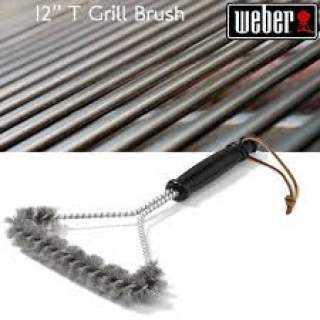 GRILL BRUSH - THREE SIDED, 30 CM, STAINLESS STEEL BRISTLES