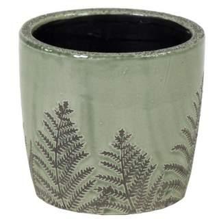 Shine Fern Egg Pot Green D20H20
