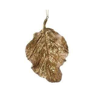 porcelain leaf w hanger gold