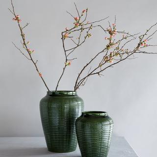 Willow GLAZED: Green Emerald, Height 35 cm, Vase