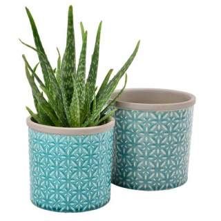 Glazed Pot Tuscany Small Blue