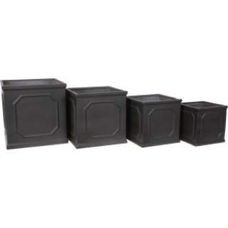 SQ. FRAME PLANTER 27X27X27 Black