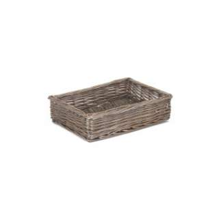 Medium Antique Wash Straight-sided Tray - LINED
