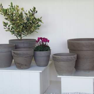 Coupe Pot Basalt Clay 35x29cm