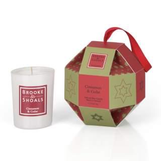 Christmas Luxury Bauble- 1 pack Cinnamon and Cedar
