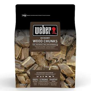 HICKORY WOOD CHUNKS - 1.5KG