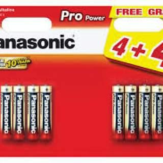 Panasonic Batteries AA 4+4Free