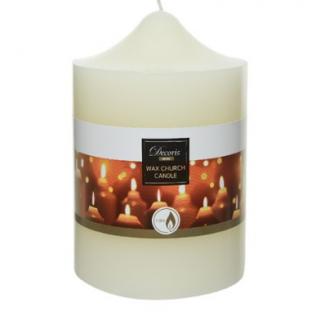 wax church candle ivory 10x15cm