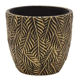 Adana Ash Egg Pot Gold D11H10