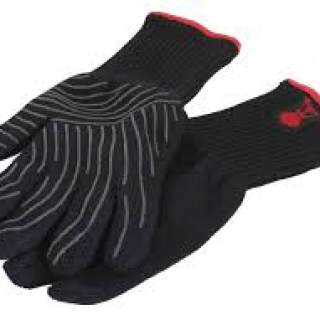PREMIUM GLOVES - SIZE S/M, BLACK, HEAT RESISTANT