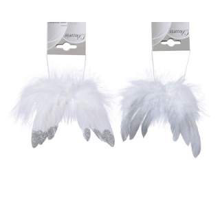 feather wings on wire 2ass white