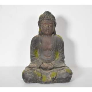 BUDDAH MEDI ORNAMENT D27H37 Resin Brown and Moss