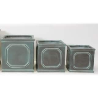 SQ. FRAME PLANTER 32X32X32 Vert-de-Gris