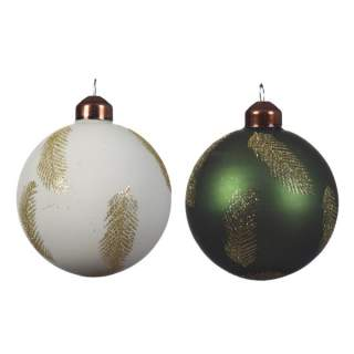 gl bauble w feather decor 2cladia8cm