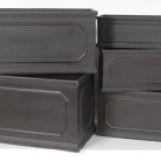 TROUGH FRAME PLANTER 75X28X29 Black