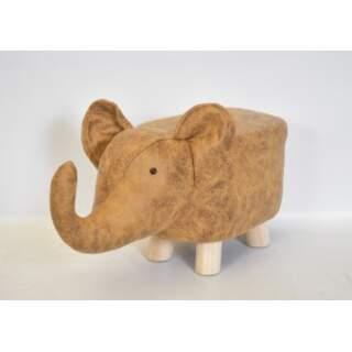 ELEPHANT LEATHERETTE SEAT 48X26X25 BROWN