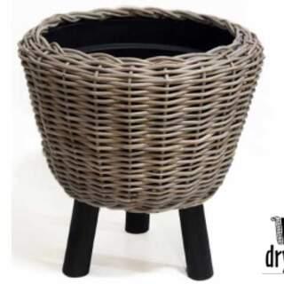 DRYPOT WOODEN LEGS BLACK D54H55CM