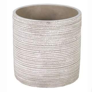 Ciao Lines Cylinder Pot Grey D14H14