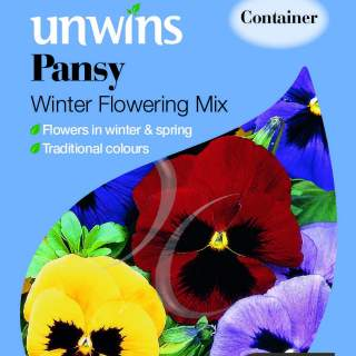 Pansy Winter Flowering Mix