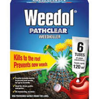 WEEDOL PATHCLEAR WEEDKILLER TUBES + 33% EXTRA FREE 6 tubes plus 2 free