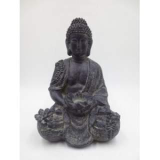 BUDDHA MIMI ORNAMENT D37H39 Resin Grey