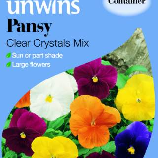 Pansy Clear Crystals Mix