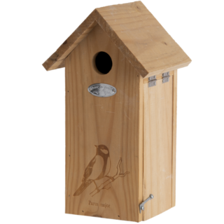 Birdhouse great tit silhouette