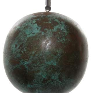 Metal ball tarnished green 15cm