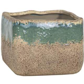 Rami Square Pot Antique Celadon D15.5H13.5