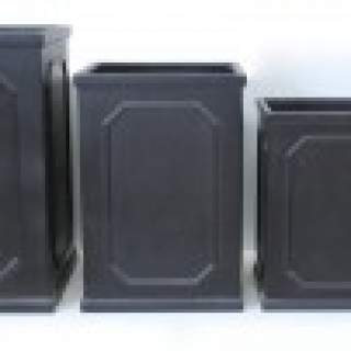 TALL SQ. PLANTER 32X32X44 Black