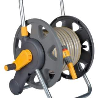 Hozelock 60m 2 in 1 Hose Reel and 25m Hose