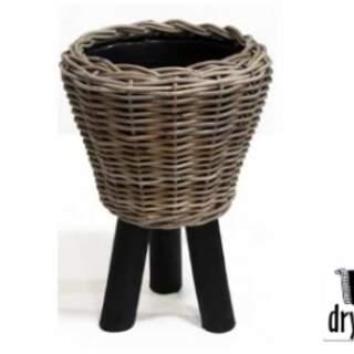 DRYPOT WOODEN LEGS BLACK D27H42CM