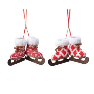 pes ice skate w hanger 2ass red