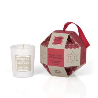 Christmas Luxury Bauble - 1 pack Frosted Ginger and W Berries