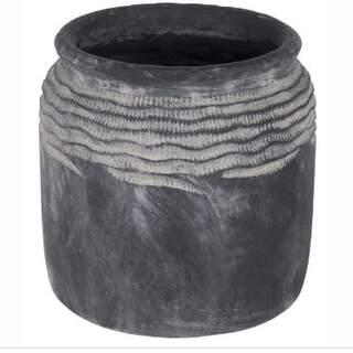 Bari Carves Pot Grey D28H37